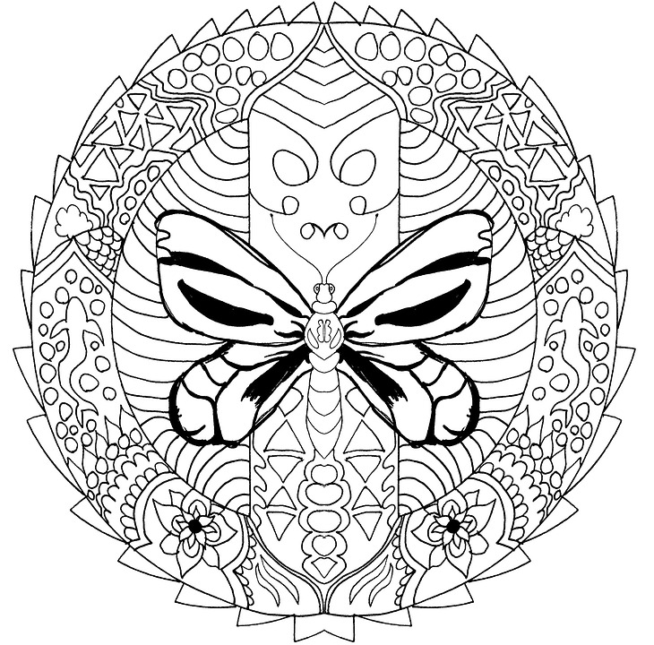 free photo coloring for adults mandala coloring book max pixel