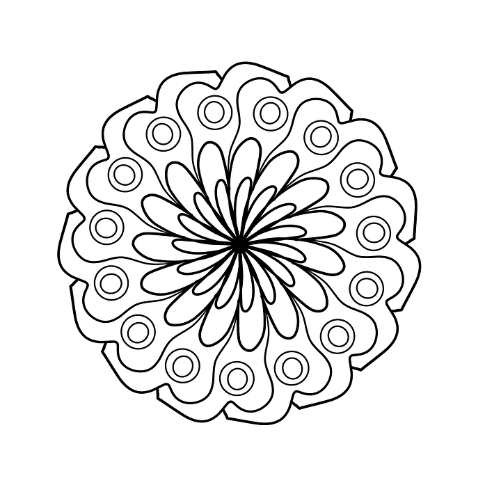 Free photo Coloring Page Mandala Coloring For Adults - Max Pixel
