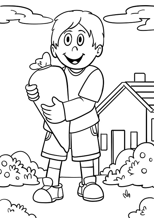 School Enrollment, Schultüte, Coloring Pages