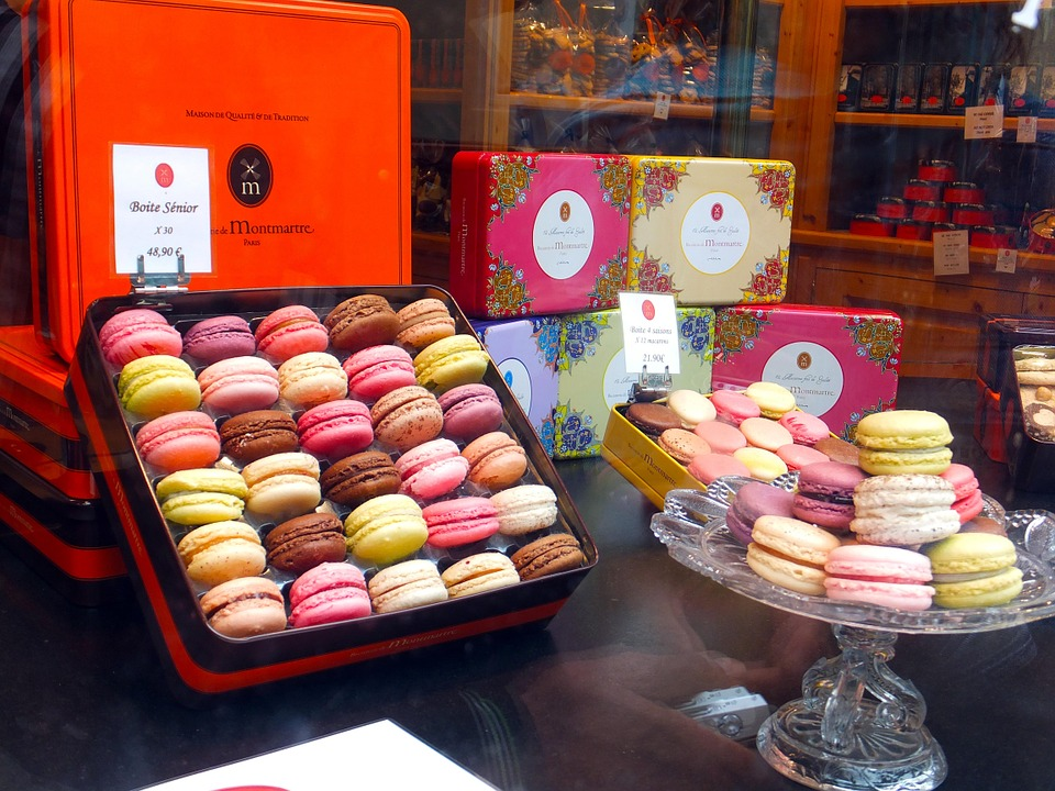 Paris, Macarons, Cakes, Colors