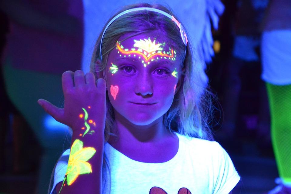 Child, Fluo, Festival, Multicolor, Colors