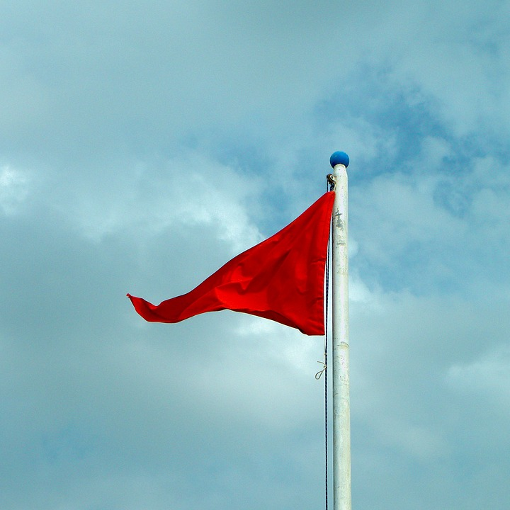 Flag, Danger, Red, Report, Color, Colors
