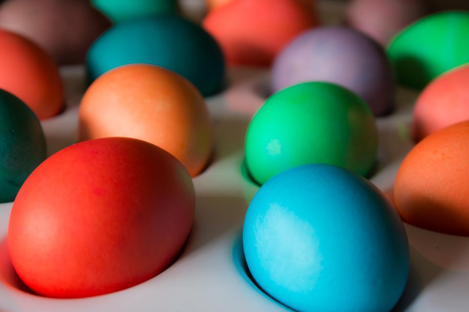 Eggs, Colors, Easter, Holiday, Spring, Celebration