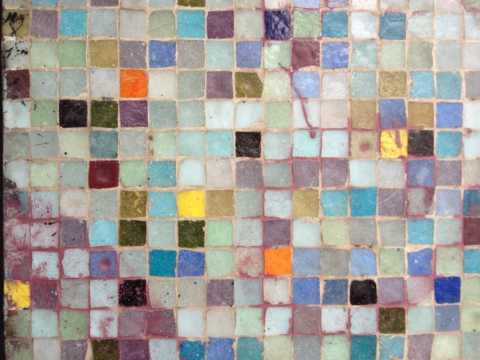 Mosaic, Colors, Wall, Geometric Pattern