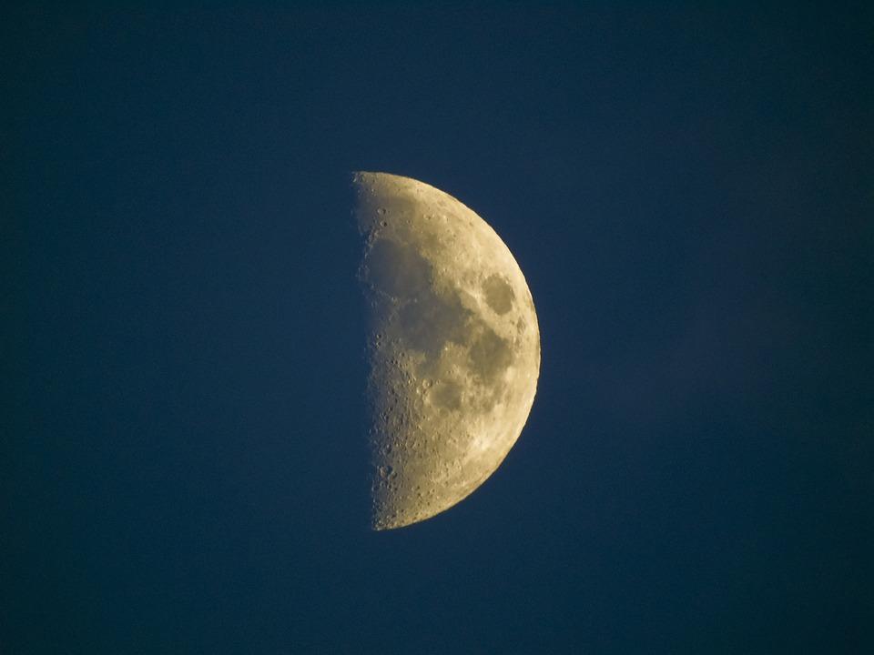Luna, Half, Night, Colors