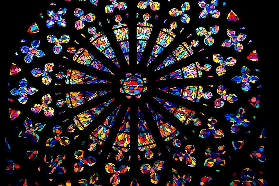 Church, Stained Glass Windows, Colors, Heritage