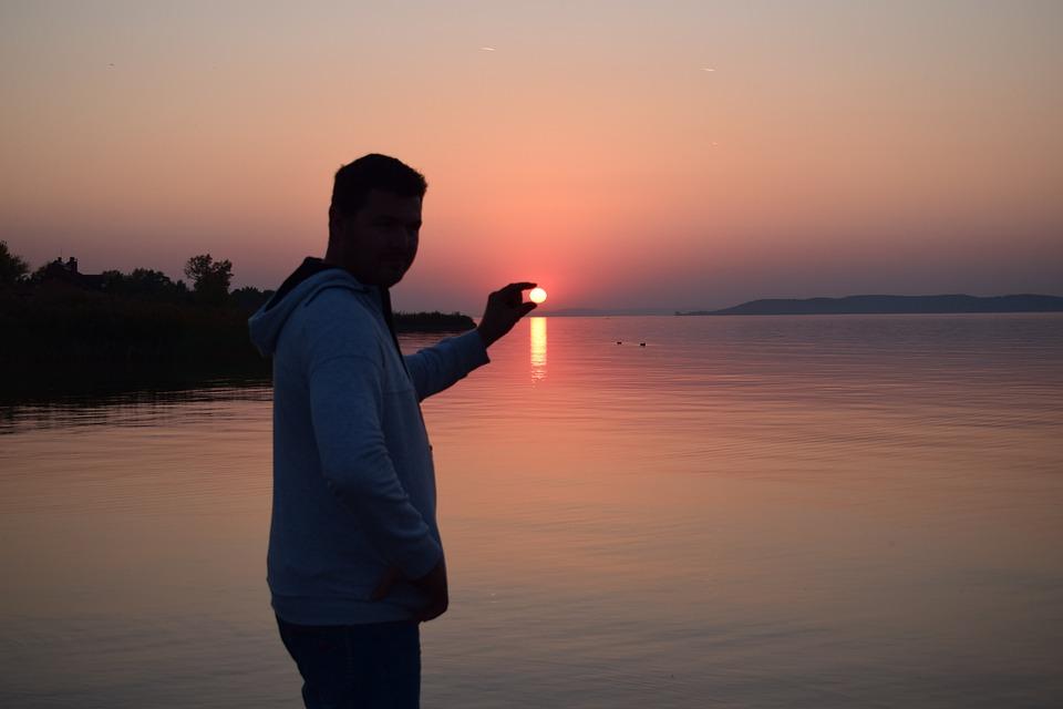 Sunset, Lake Balaton, Light, Lake, Dusk, Nature, Colors