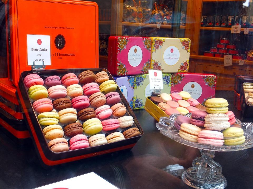 Paris, Macarons, Cakes, Colors