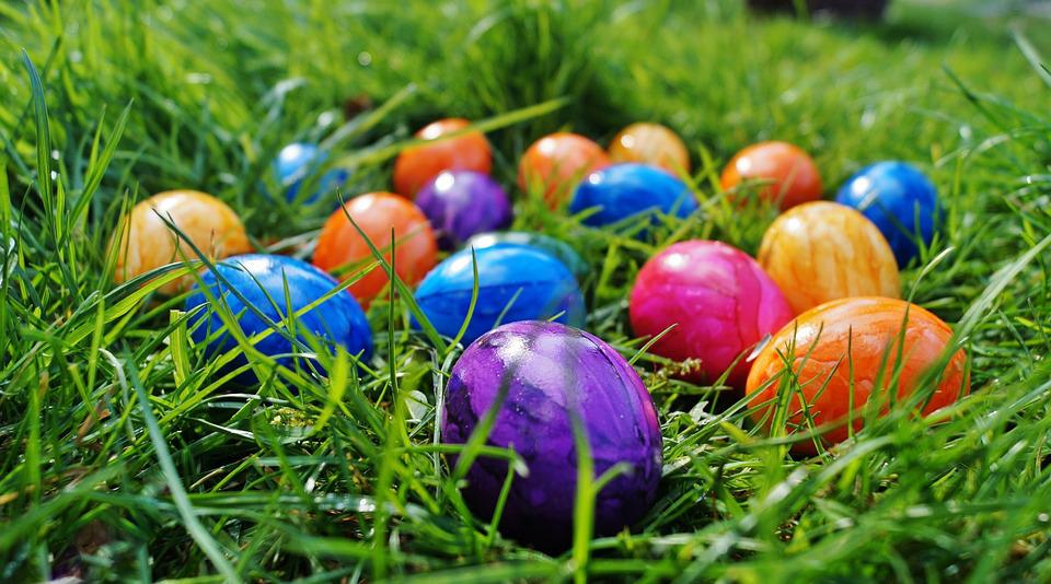 Easter, Eggs, Color Eggs, Spring, In The Grass, Colors