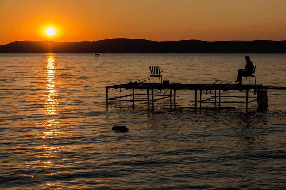 Lake Balaton, Lake, Water, Sunset, Landscape, Colors