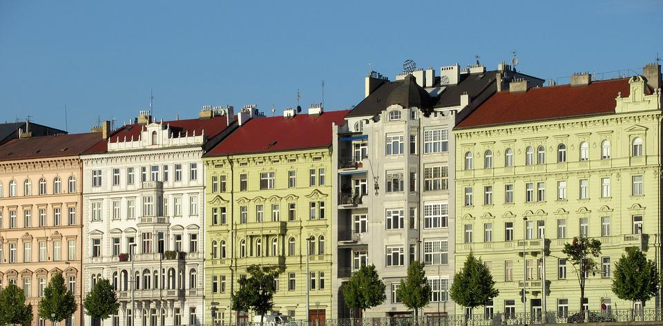 Prague, Buildings, Colors, Windows