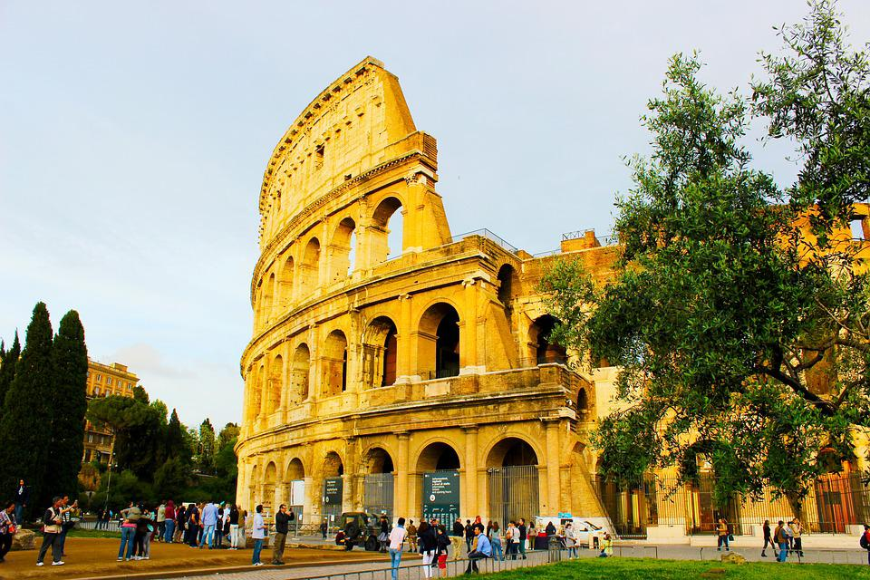 Rome, Trees, Italy, Colosseo, Coliseum, Icon, Europe