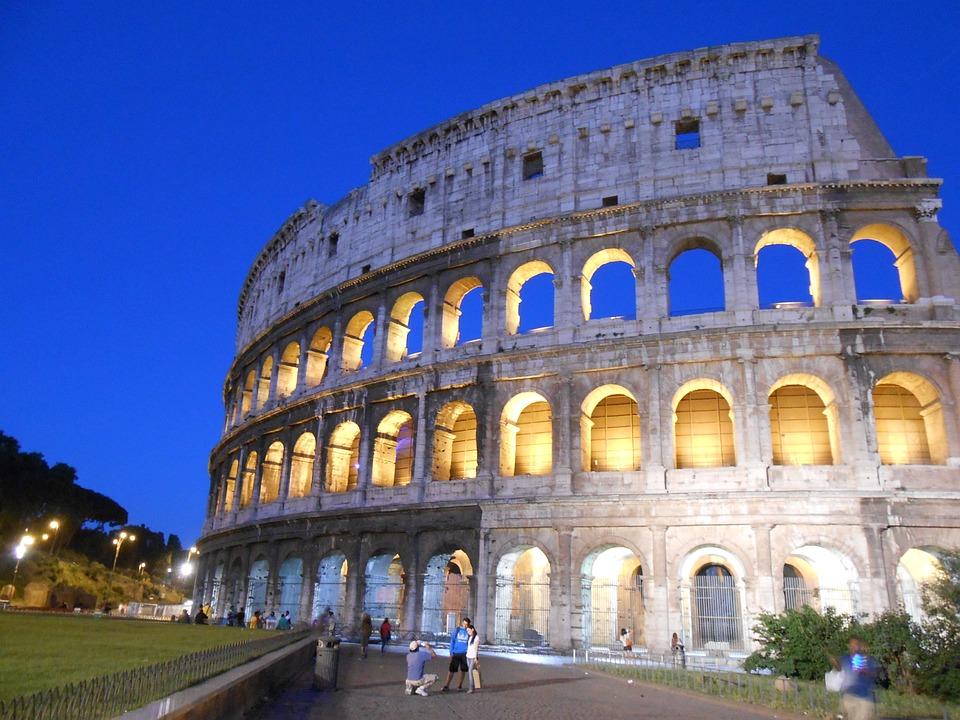 Colosseum, Rome, Night View
