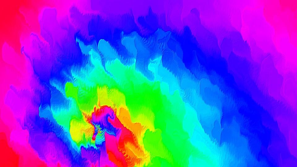 Rainbow, Colourful, Colours, Swirl, Colour, Background
