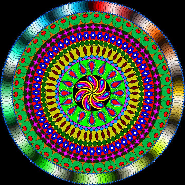 Mandala, Indian, India, Colour, Arts