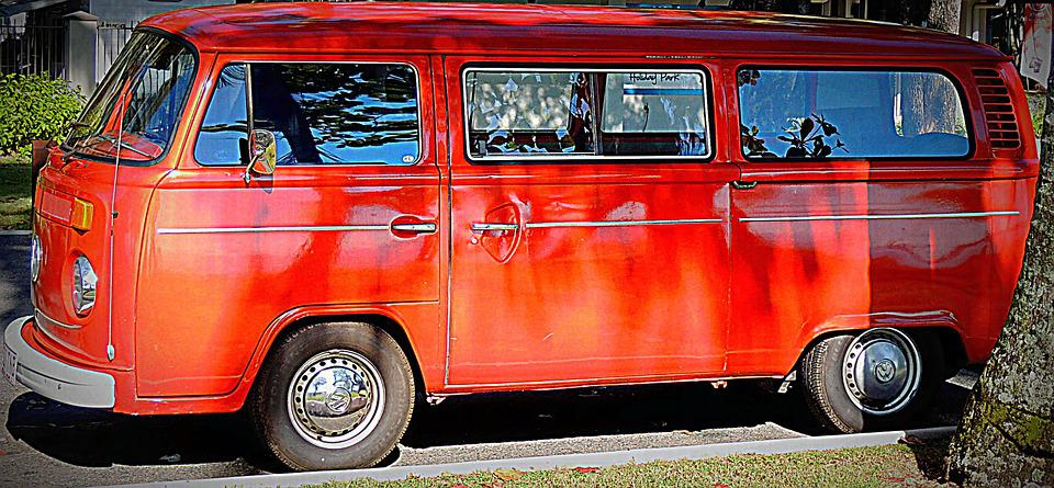 Car, Van, Colour, Orange, Automobile, Classic, Style