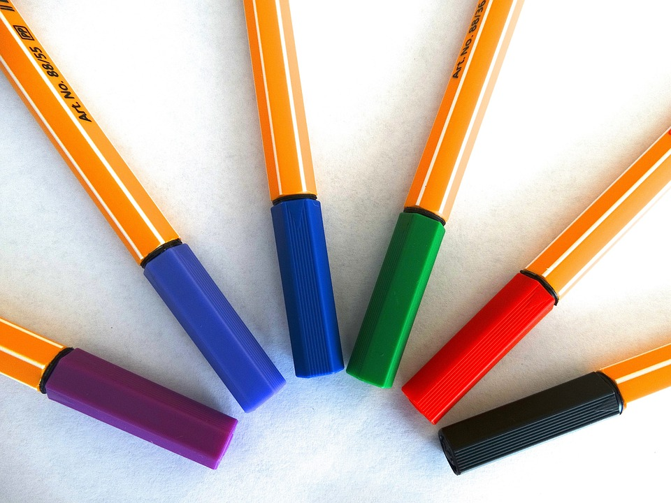 Felt Tip Pens, Colour Pencils, Color, Paint, Draw