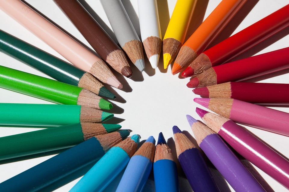 Colored Pencils, Colour Pencils, Star, Color Circle