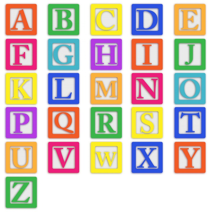 Alphabet Wall Chart: Free photo Colourful Abc Letters Baby Blocks Block Alphabet - Max ,Chart