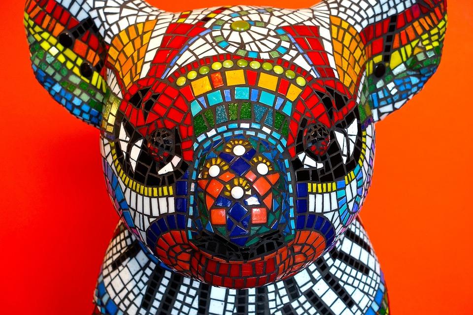 Koala, Mosaic, Colourful, Tiles, Symbolism, Character