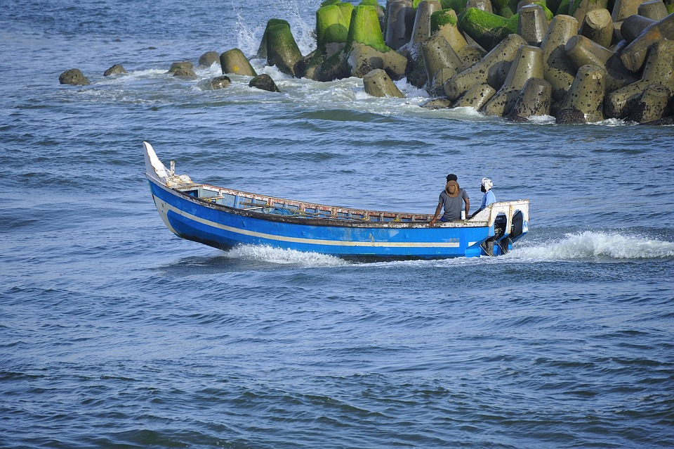 Fishing Boat, Perumathura Beach, Trivandrum, Colourful