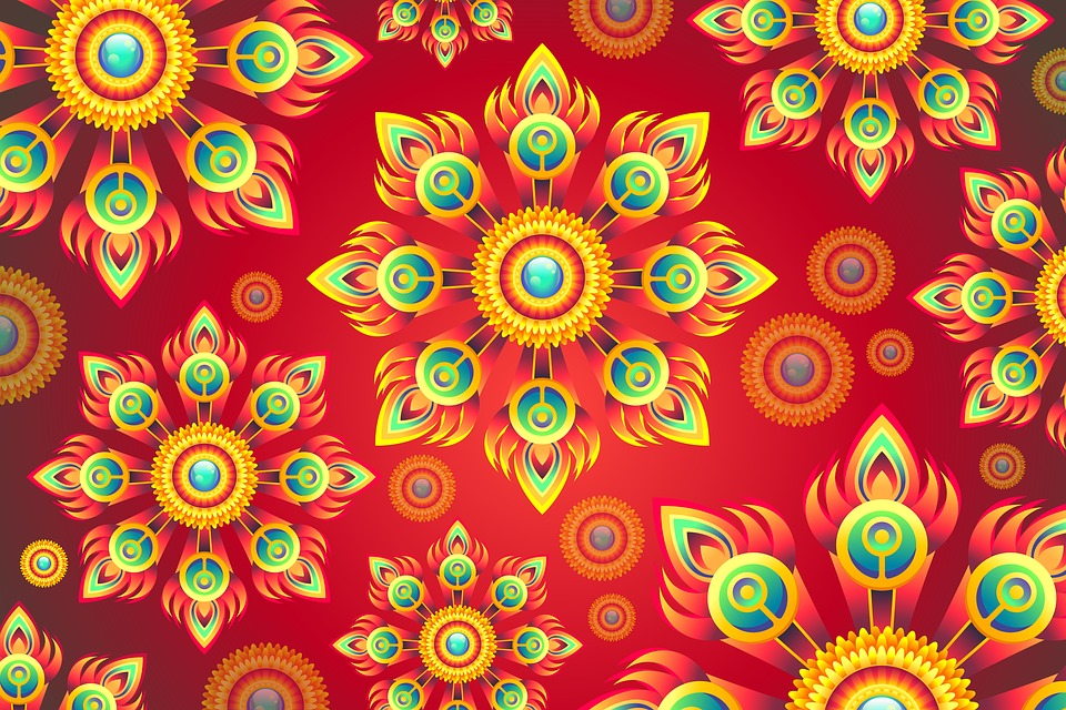 Floral, Abstract, Background, Texture, Colourful