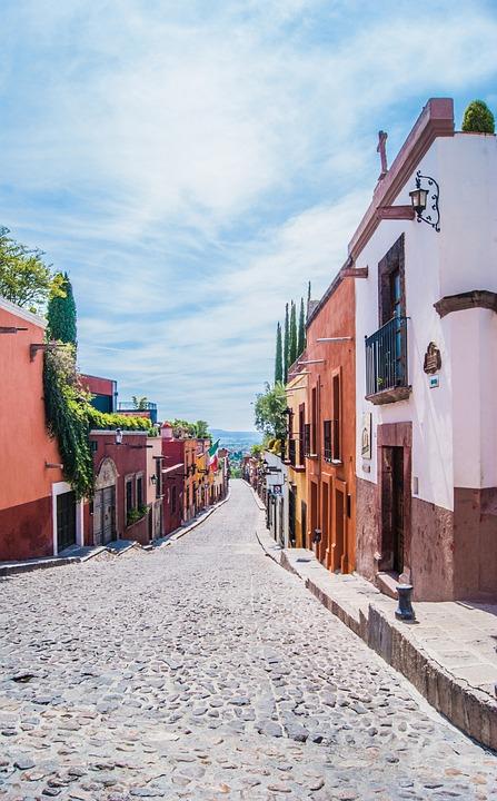 Road, Cobblestones, Buildings, Colourful, Village