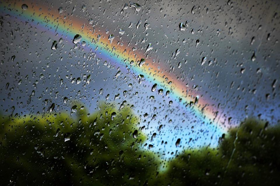 Rainbow, Rain, Nature, Weather, Umbrella, Colourful