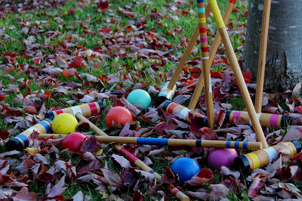 Croquet, Game, Outdoors, Outside, Fun, Play, Colours