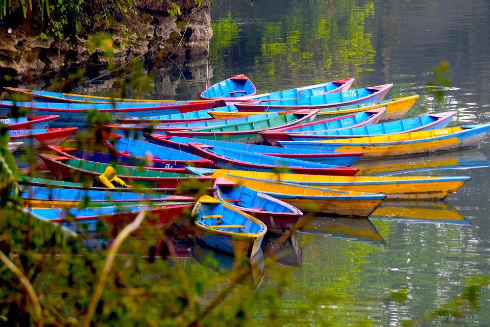 Boat, Phewalake, Colours, Reflection