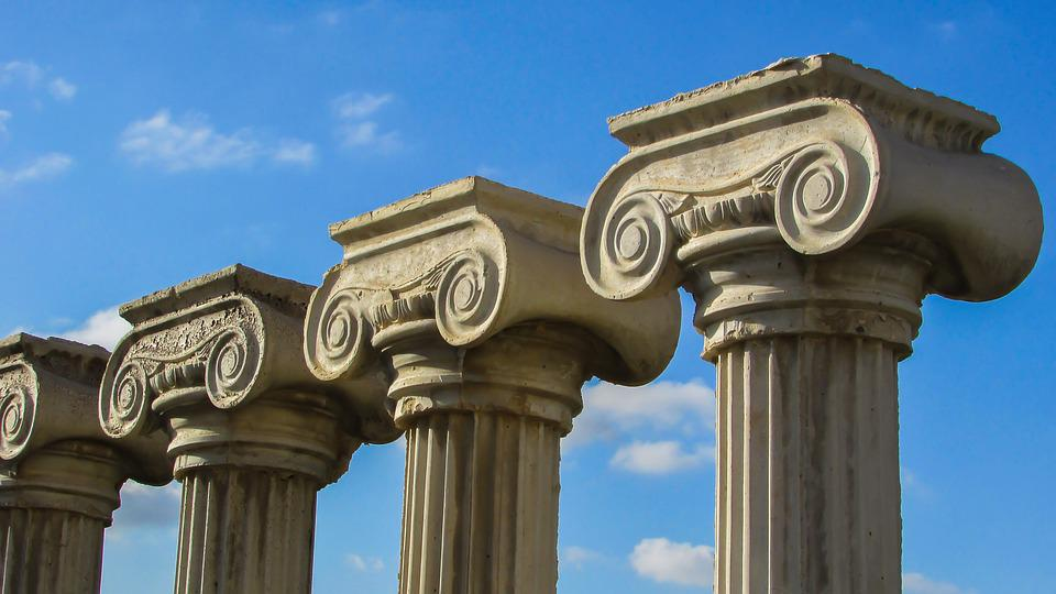 free photo column architecture greek ionic pillar capitals max pixel