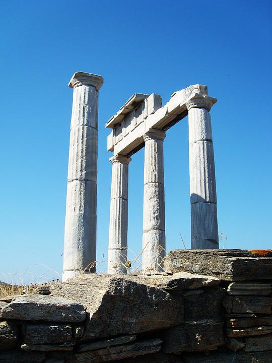 Column, Antique, Ancient Column, Hermes Temple, Naxos