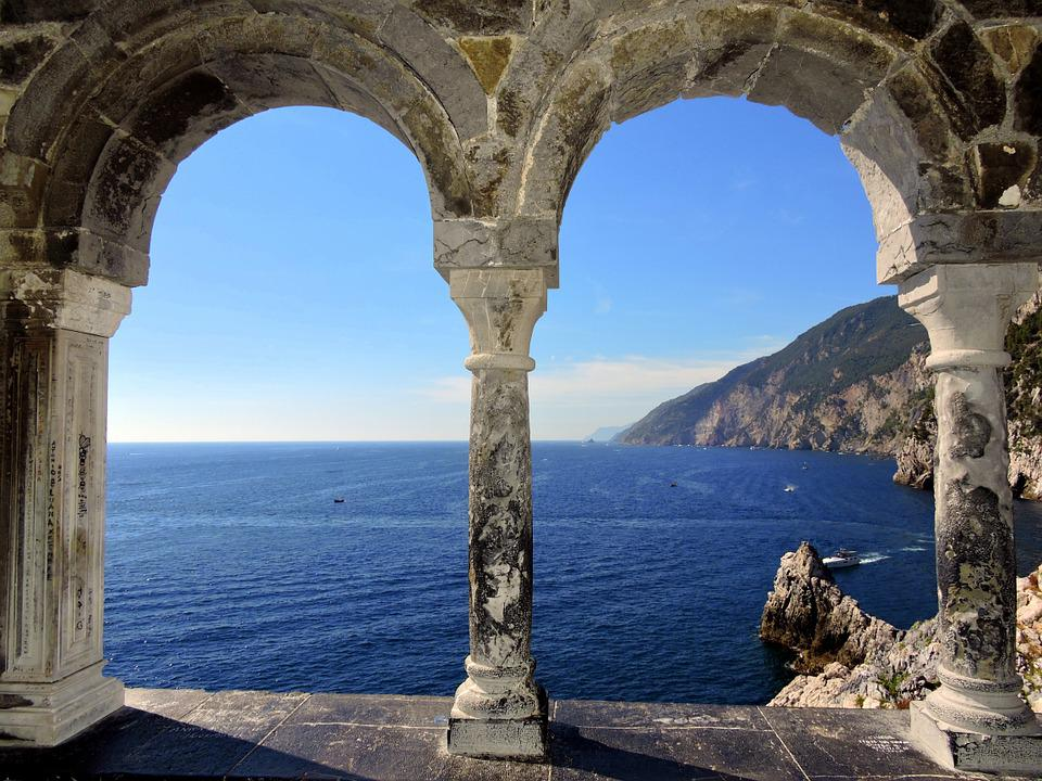 Window, Sea, Column, Scoglio, Sky, Mountain