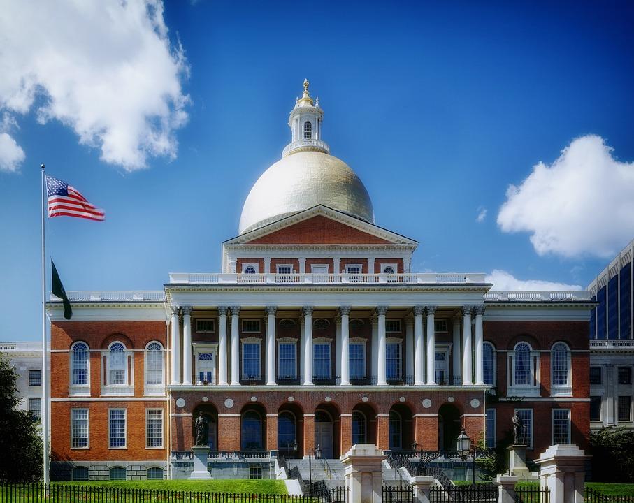 Capitol Building, Dome, Columns, Statehouse, Boston
