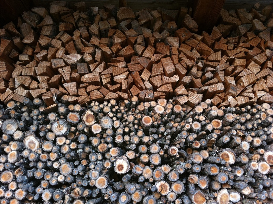 Woodpile, Nature, Columns