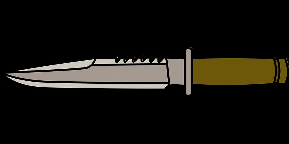 Knife, Combat, Sharp, Vector