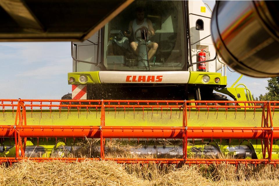 Combine Harvester, Harvest, Cereals