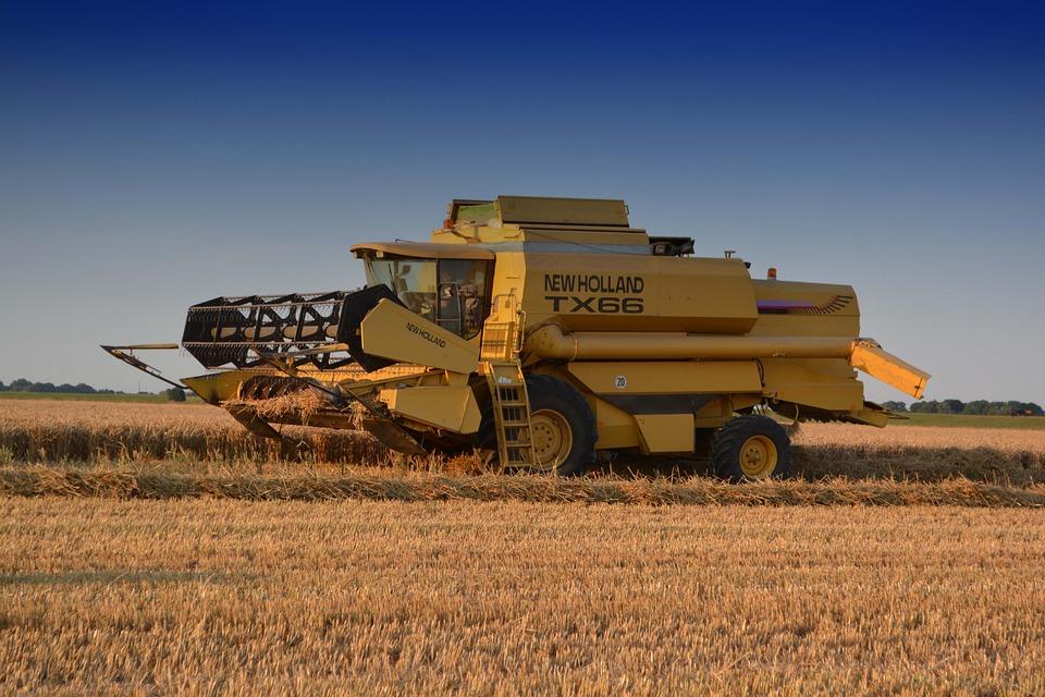 Combine Harvester, New Holland, Farm, Harvest, Nature