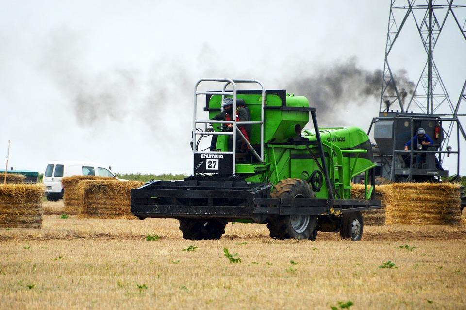 Combine Harvesters, Race, Farm, Agriculture, Earth