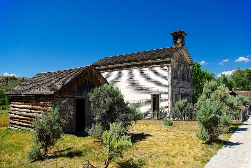 Combined Lodge And Schoolhouse, Montana, Bannack