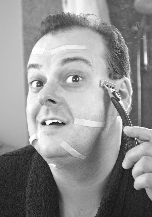 Shave, Shaving, Comedy, Humor, Cut, Section, Wound
