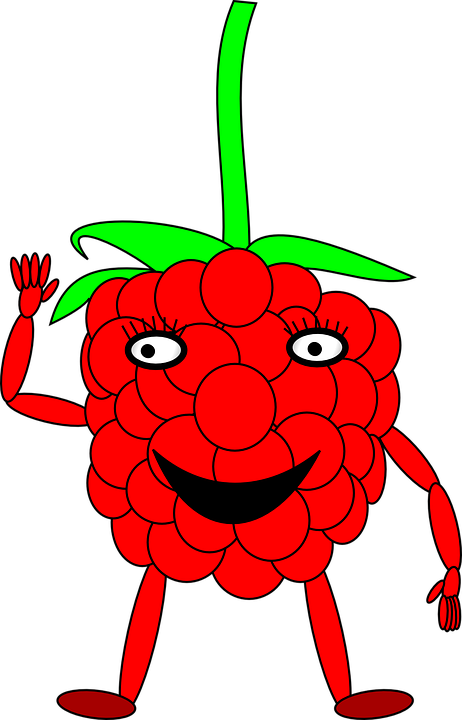 Raspberry, Man, Berry, Cartoon, Comic, Alive, Legs