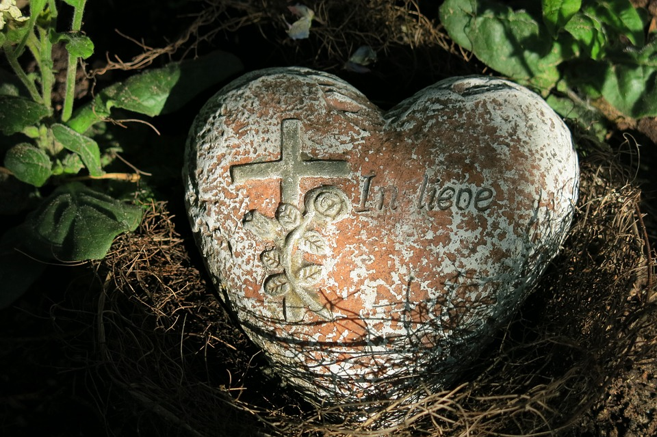 Cemetery, Tombstone, Heart, Inscription, Commemorate