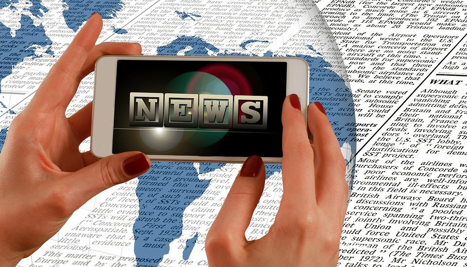 Hands, Smartphone, News, Press, Newspaper, Commenced