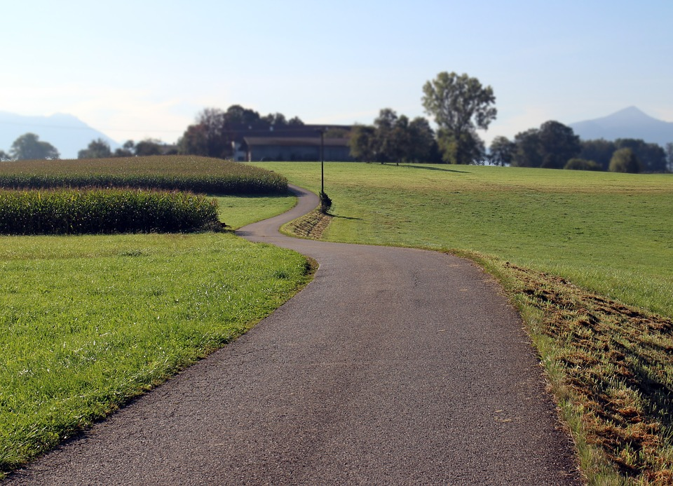 Road, Away, Commercial Way, Nature, Field, Landscape