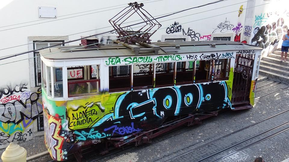 Tram, Lisbon, Communication, Transport, Package
