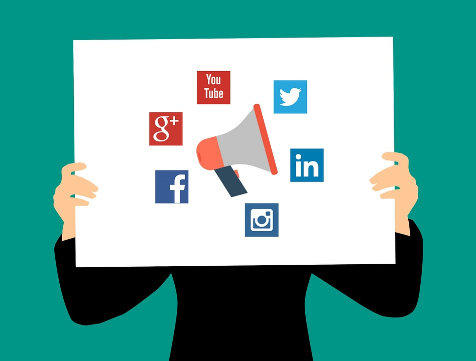 Social Media, Business, Communication, Flat
