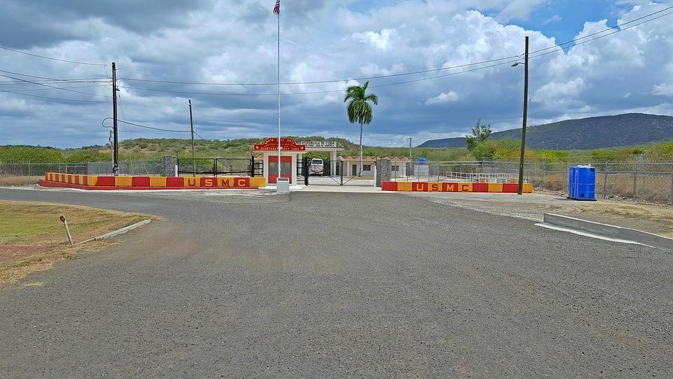 Guantanamo Bay Gate, Cuba, Communist