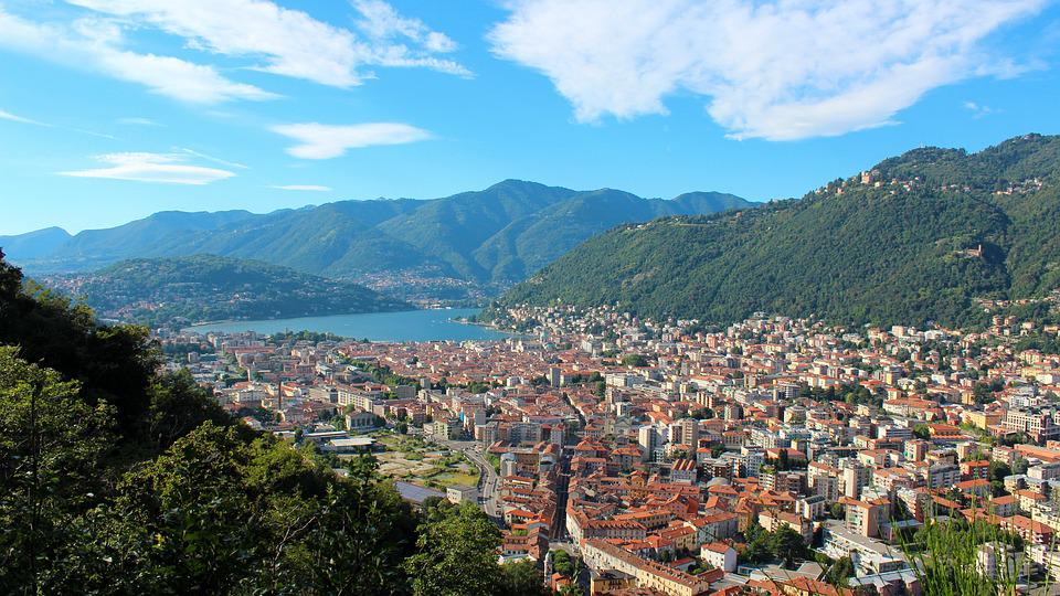 Como, Landscape, Lake Como, Clouds, Lombardy, Water