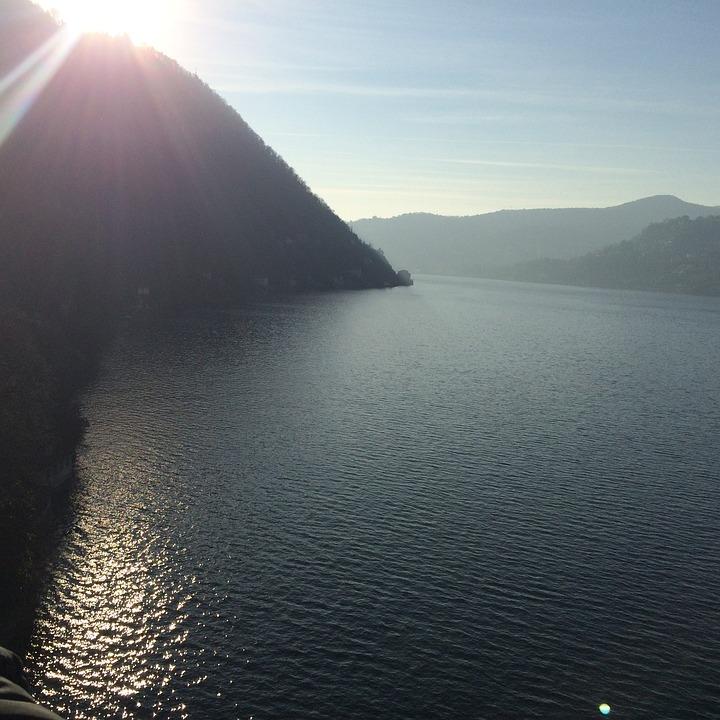 Lake, Winter, Lake Como, Como